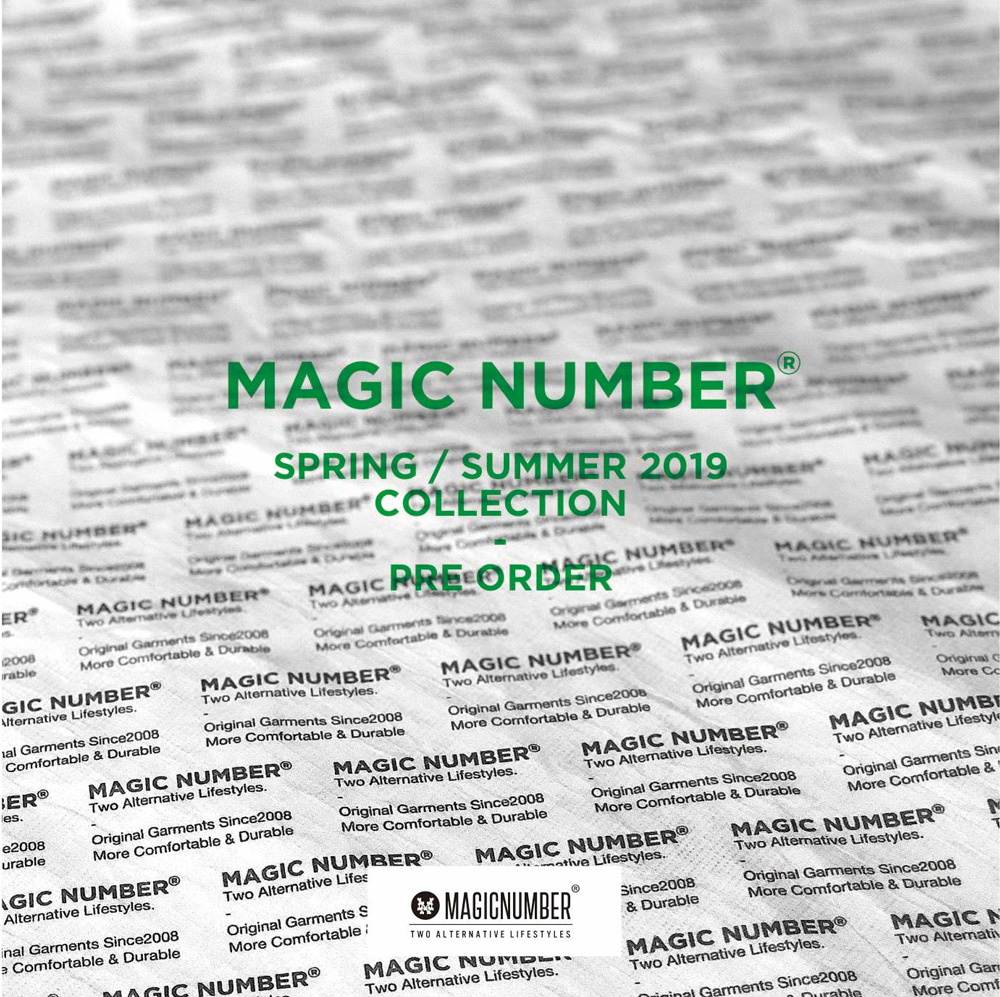 MAGIC NUMBER 2019 SPRING/SUMMER ZOZO TOWNにて先行予約開始